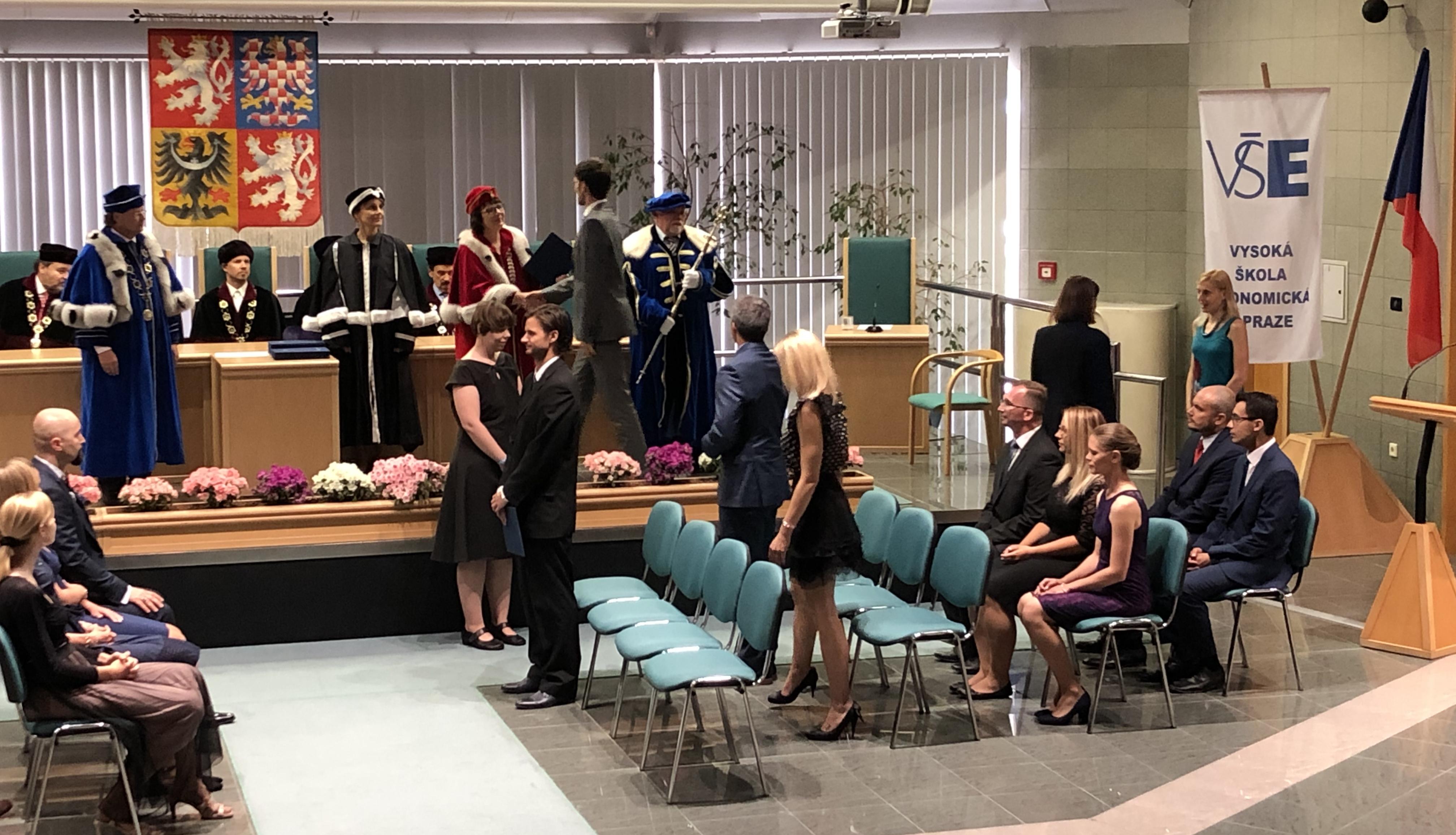 Ondřej Sankot převzal doktorský diplom